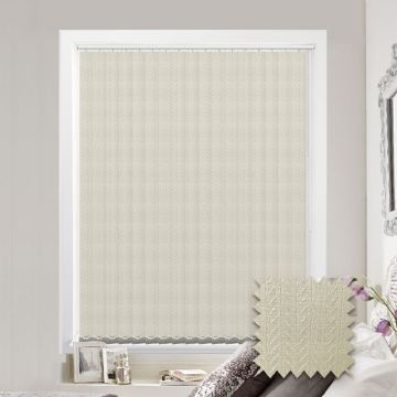 Made to measure vertical blind in Kineton Cream Fabric